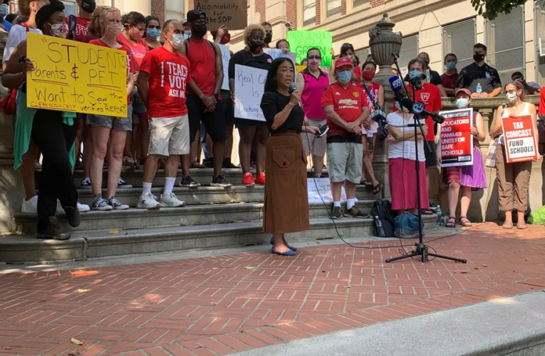 Masterman teachers protest unsafe conditions
